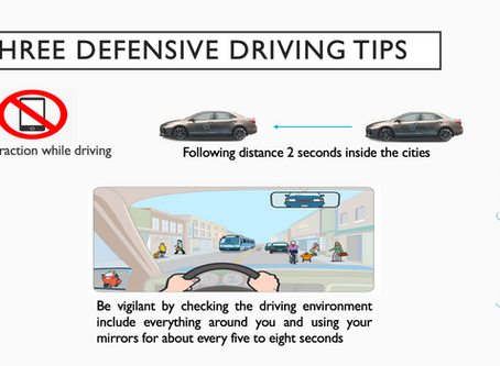 Three Defensive Driving Tips
