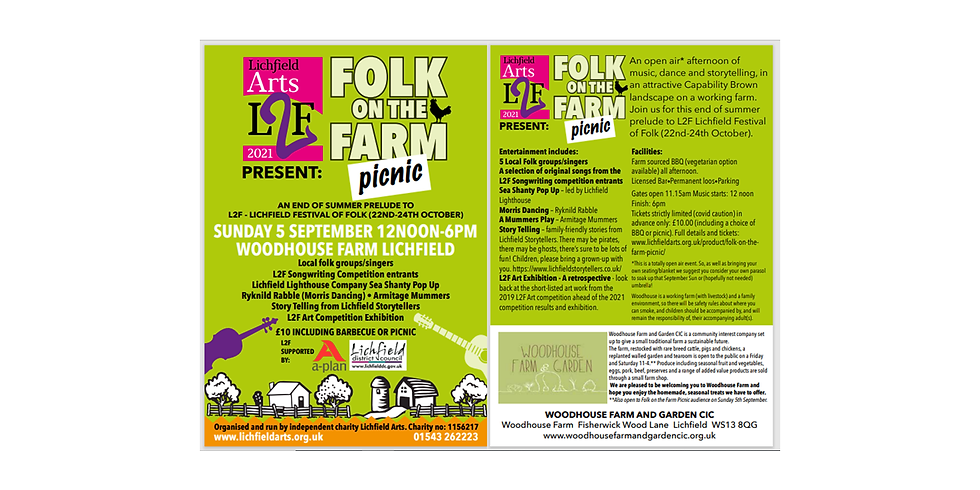 Folk on the Farm (picnic) including Lichfield Storytellers