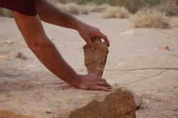 איזון אבנים במדבר