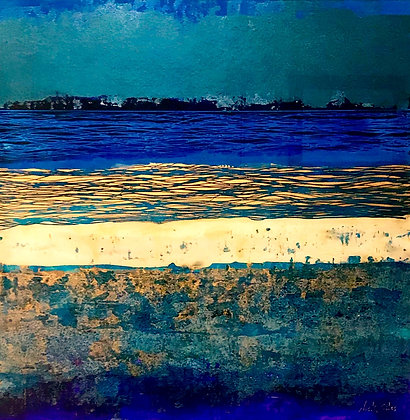 'Elemental Arran Abstract Tones of Blue' by Nick Giles