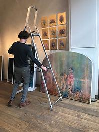 Jack Frame installing show in Glasgow -