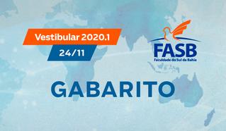 VESTIBULAR FASB 24/11 - GABARITO OFICIAL