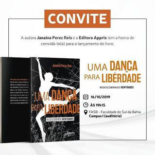 """Lançamento do livro """"Uma dança para liberdade: redescobrindo identidades"""""""