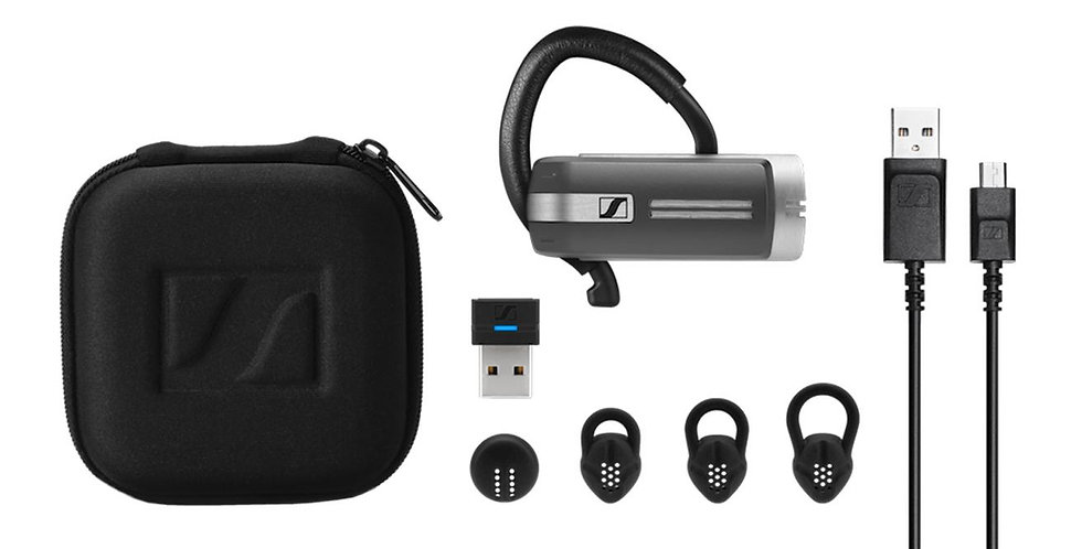 Presence Grey UC Bluetooth headset med dongel for PC/Mac