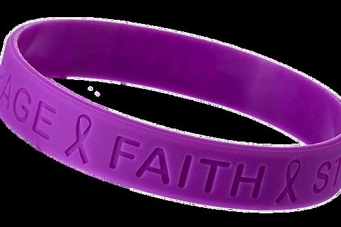 Purple Awareness Wristband