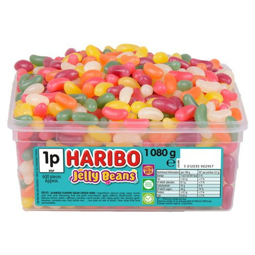 1080g Tub Haribo Jelly Beans