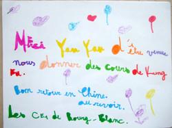 法国的孩子喜欢中国功夫,感谢来自中国的颜艳1。