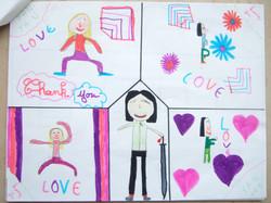 法国孩子们通过绘画,描绘出各自心目中的颜艳。 (12)