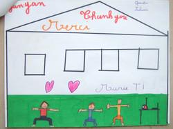 法国孩子们通过绘画,描绘出各自心目中的颜艳。 (13)