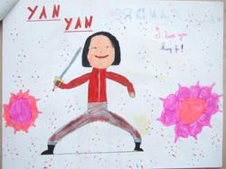 法国孩子们通过绘画,描绘出各自心目中的颜艳。 (11)