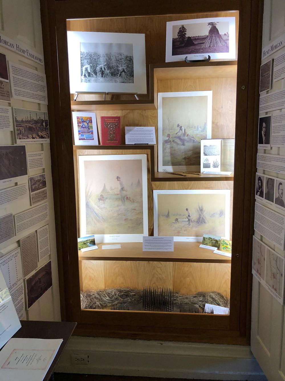 Paul Sawyier Hemp Prints on display at the Kentucky Hemp Museum display at Hopemont, the Hunt-Morgan House in Lexington, Kentucky.
