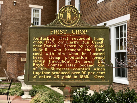"""""""First Crop"""" Kentucky Historical Highway Marker"""