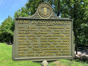 Hemp In Scott County Kentucky Historical Marker #1166