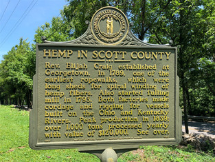 Hemp In Scott County Kentucky Historical Marker #1166