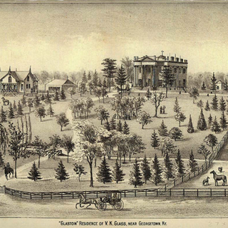 Drawing of the Ward Hall Estate Date Unknown