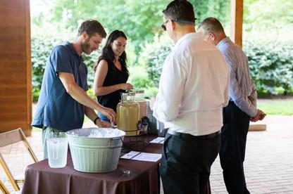 2019 Farmington Hemp Dinner: Guests enjoying the complimentary hemp cocktail hour