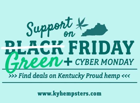 Green Friday and Cyber Monday Deals On Kentucky Hemp
