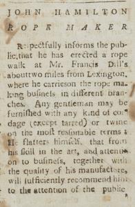 July 19, 1790, Kentucky Gazette (Kentucky Digital Library).