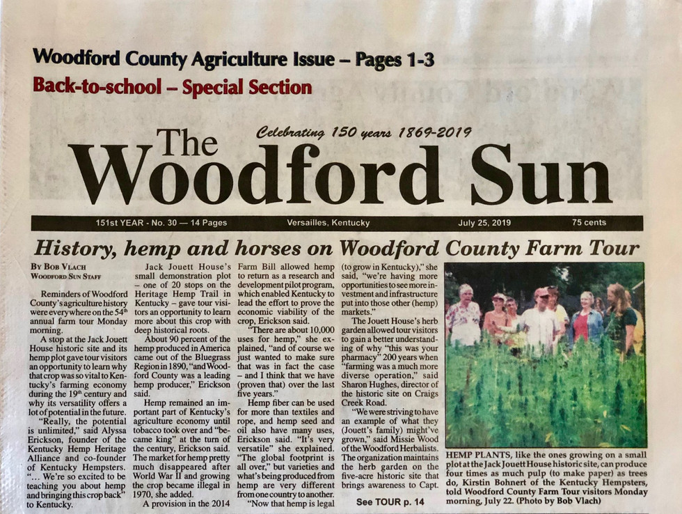The Woodford Sun July 25, 2019 Edition