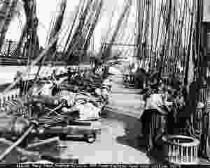 Naval ship rigging from 1931. Every U.S. Navy battleship required 34,000 feet of cordage.