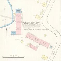 Kentucky River Mills Sanborn Map 1886