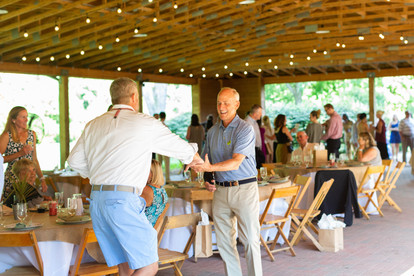 2019 Farmington Hemp Dinner: Guests during check-in and complimentary cocktail hour