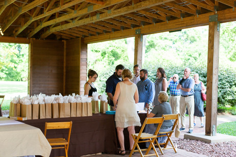2019 Farmington Hemp Dinner: Guests checking-in and receiving hemp goodie bags during the complimentary hemp cocktail hour