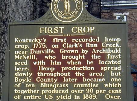 1775 | First hemp crop in Kentucky