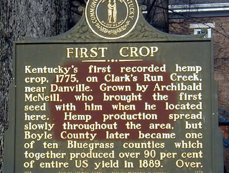 1775 | First hemp crop in Kentucky