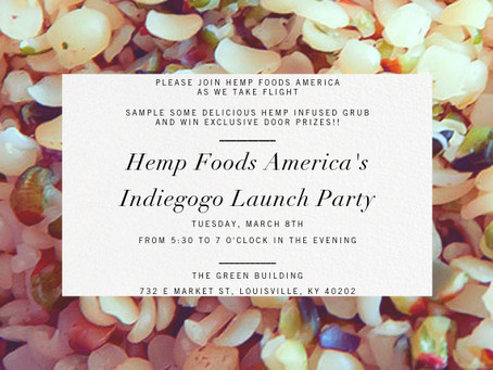 Hemp Foods America hosts campaign launch party