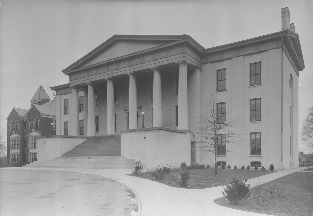 Transylvania College; Morrison Chapel, exterior, 1936 (ExploreUK).