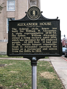 William W. Alexander was the son of successful Paris-Bourbon County hemp manufacturer, William Alexander Sr., who had a ropewalk located at East Paris on the Maysville & Lexington Pike.