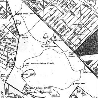 Ashland Map Circa 1865