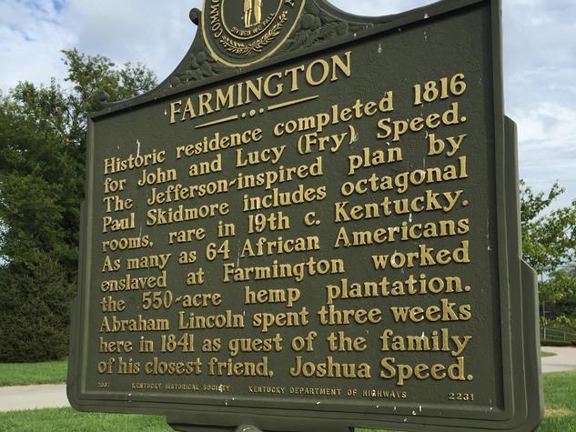 Farmington Historical Highway Marker