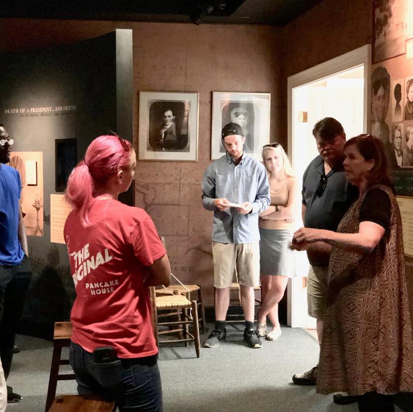 Kathy Nichols, Director of Farmington Historic Plantation, providing a Farmington and Kentucky hemp history discussions during Hemp Day at Farmington in Louisville, Kentucky.