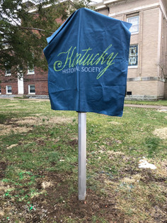 Kentucky Historical Marker #2527 ready for reveal.