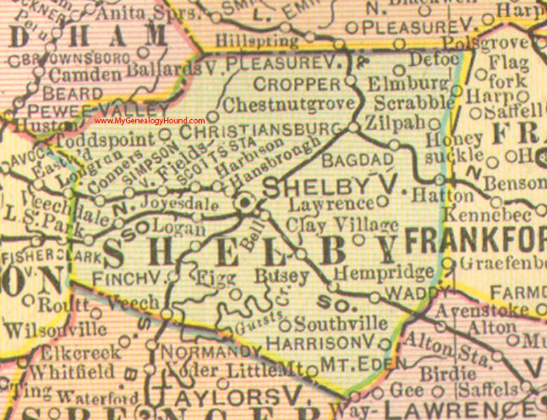 Shelby County, Kentucky 1905