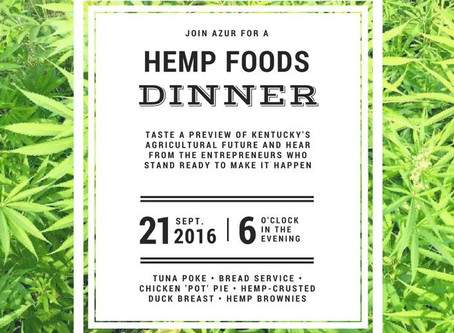 Hemp Foods Dinner hosted by Azur