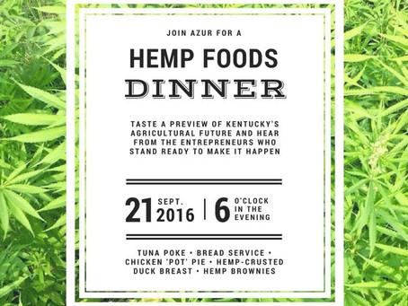 Hemp Foods Dinner hosted by Azur