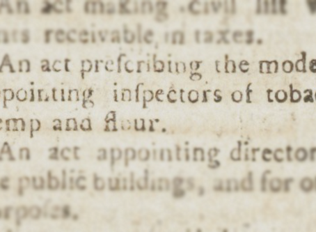 1792 | An act appoints inspectors of hemp, tobacco and flour in Kentucky