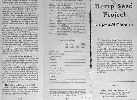 1943 | USDA asks Kentucky 4-H clubs to grow hemp for war