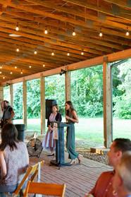 2019 Farmington Hemp Dinner: Alyssa Erickson, co-founder of the KHHA/Heritage Hemp Trail and Kentucky Hempsters, begins to present dedication and plaque to the Glenn Sea Family