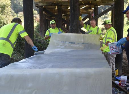 Kentucky Bridge Repaired with Hemp Wrap
