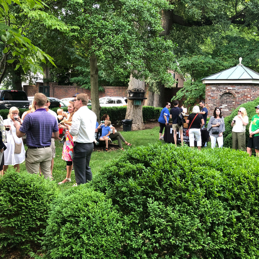 The after-party at Hopemont, The Hunt-Morgan House in Lexington, Kentucky with Rock House Brewing and Forage Food Truck in Lexington, Kentucky.