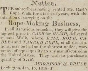Kentucky Gazette. Jan. 15th, 1819