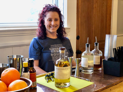 Hartfield & Co. offer locally produced cocktails! It's not a true Kentucky celebration without bourbon!
