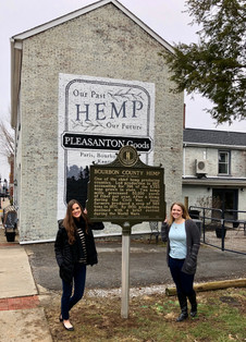 Kentucky Hempsters co-founders, Alyssa Erickson and Kirstin Bohnert, are proud to have been a part of this project through the Kentucky Hemp Heritage Alliance and the Heritage Hemp Trail.