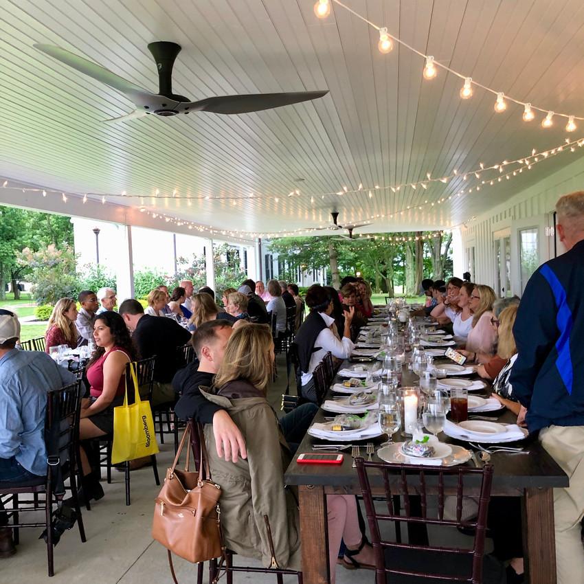 Guests enjoy the Kentucky Hemp Days Dinner at Ashford Acres Inn in Cynthiana, Kentucky.