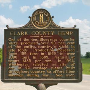 Clark County Hemp Kentucky Historical Marker (Winchester)