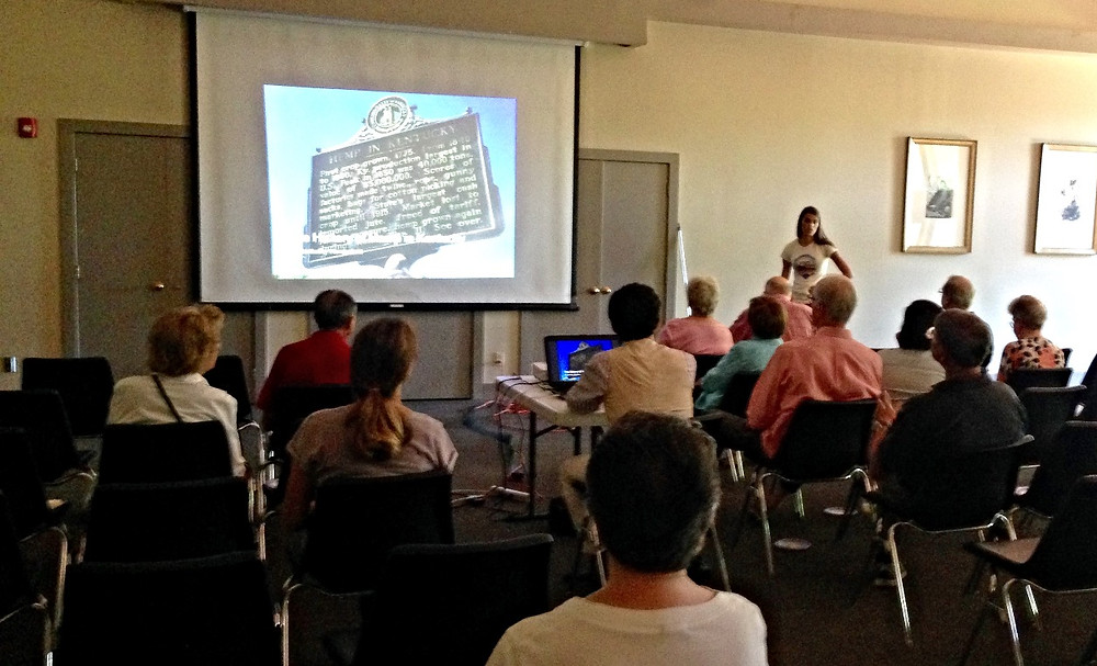 Kentucky Hempsters co-founder Alyssa Erickson presented a brief hemp history lecture about the evolution of the Kentucky industry from the late 1700s to today, followed by a trip to the hemp plot.